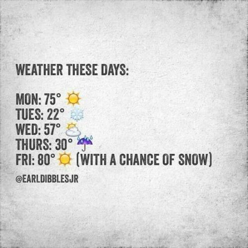 3. It's funny because we know it's going to happen about once each year. Thunder-snow in April? Absolutely. Followed by a heat wave.