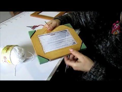 como preparar un bastidor para hacer un telar decorativo