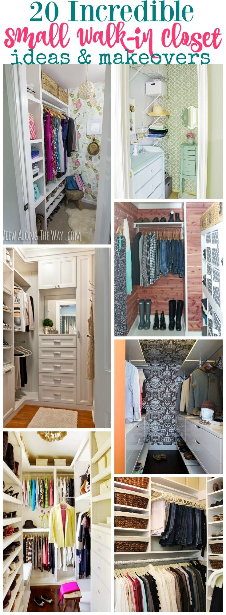 Best 25 small closet design ideas on pinterest for Organized walk in closet