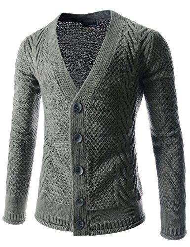 Showblanc (SBTNC08) Unisex Fitted Style Knitwear Dressy Casual Cardigan Sweater GRAY Medium(Chest 36) Showblanc http://www.amazon.com/dp/B014R6W208/ref=cm_sw_r_pi_dp_ToWlwb1JGSNRE
