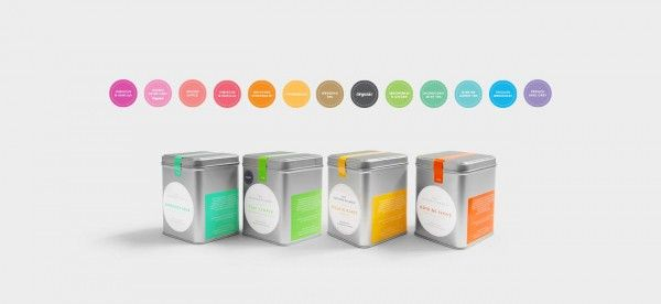 SImple but effective branding from Nude Design Studio for The Seventh Duchess teas
