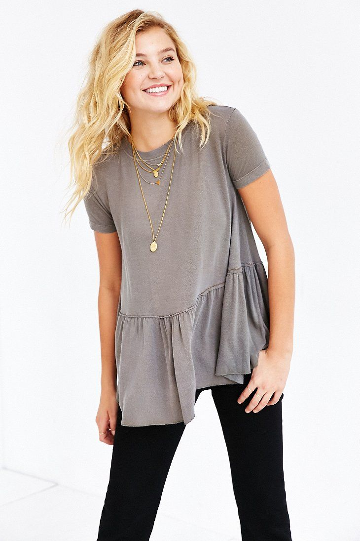 $39 Truly Madly Deeply Dusty Road Peplum Tee