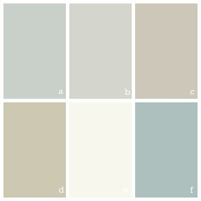 Color scheme for a house - Benjamin Moore Quiet Moments, Gray Owl, Revere Pewter, Camouflage, Simple White, and Wedgewood Gray by lorraine