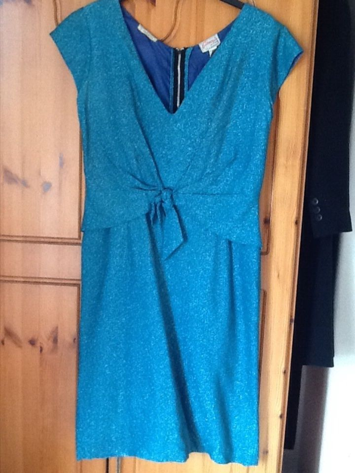 Vintage 60s CARNEGIE turquoise dress size 18