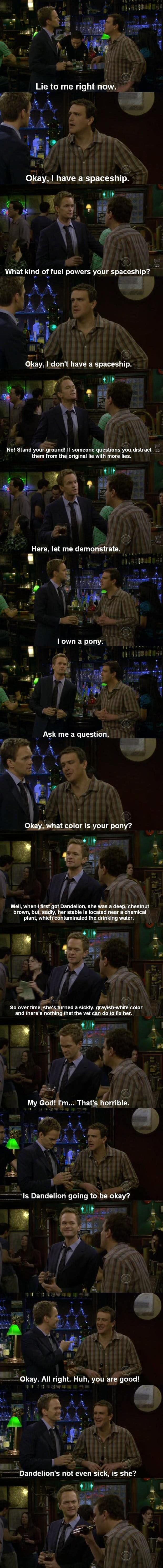 Barney Stinson – Master Liar. how i met your mother #himym