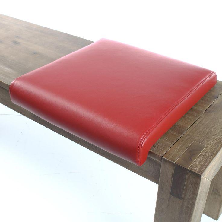 Klemmkissen Sitzkissen Bankkissen Leder Rot – Bild 2