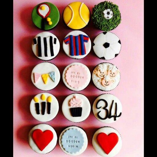 Dekorlu ve hikayesi olan doğum günü pasta ve cupcakeleri...