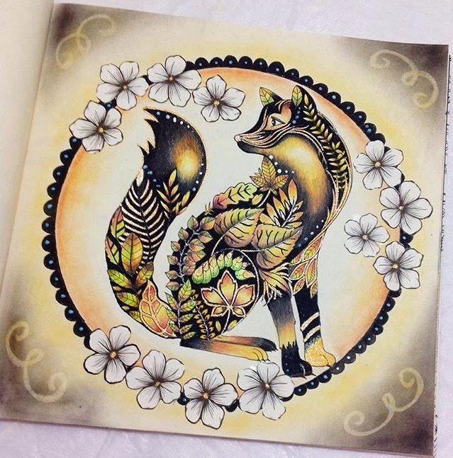 Johanna Basford   Enchanted Forest - Black & Gold Fox