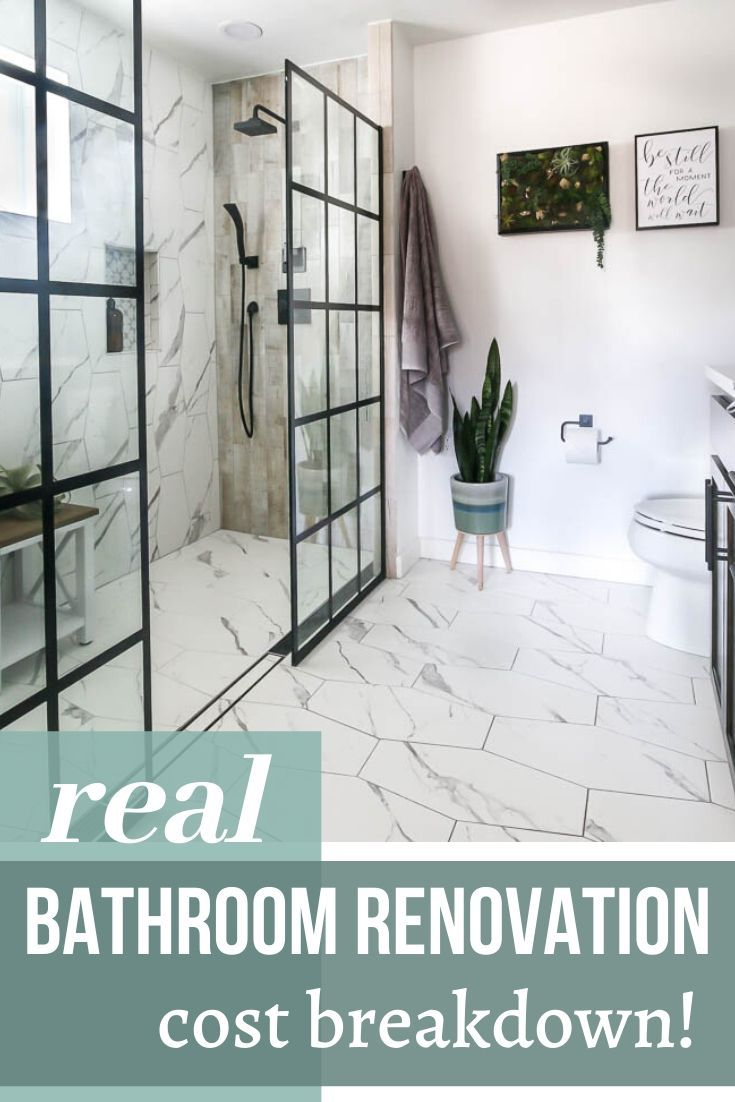 Our Modern Bathroom Renovation Cost In 2020 Bathroom Renovation