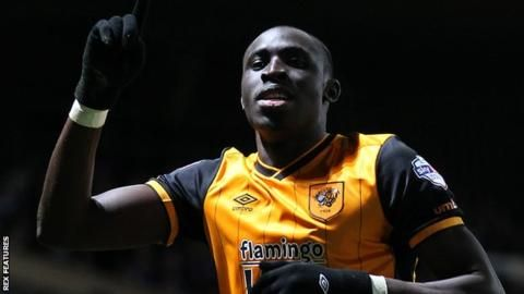Ipswich Town 0 Hull City 1: Senegalise striker Mo Diame celebrates his goal, his second goal in three Championship goals