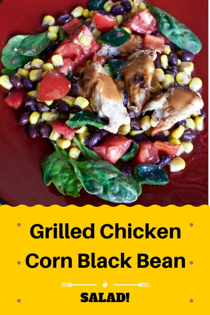 Grilled Chicken Corn Black Bean Salad is on the table in 30 minutes. Invite this high fiber, gluten free, healthy salad to dinner tonight!
