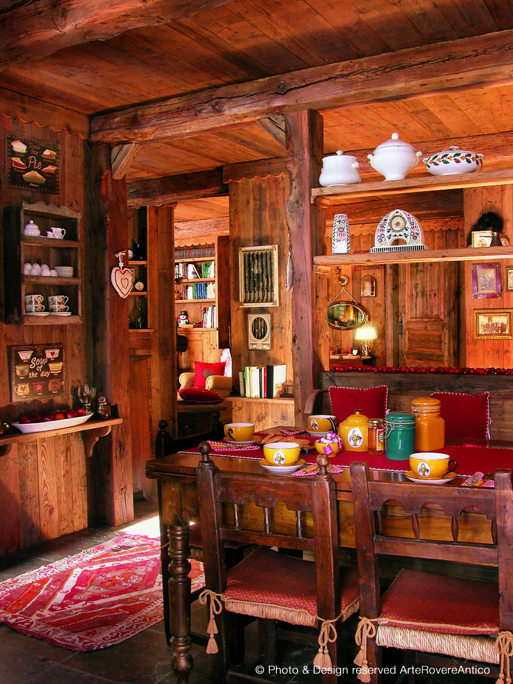    Arte Rovere Antico - Photo by Duilio Beltramone for Sgsm.it    Casa Guglia Rossa - Bardonecchia - Italy - Wood Interior Design - Mountain House
