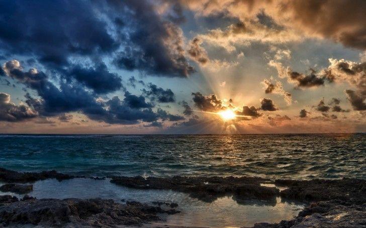 Sunset Ocean Clouds & Shore wallpapers