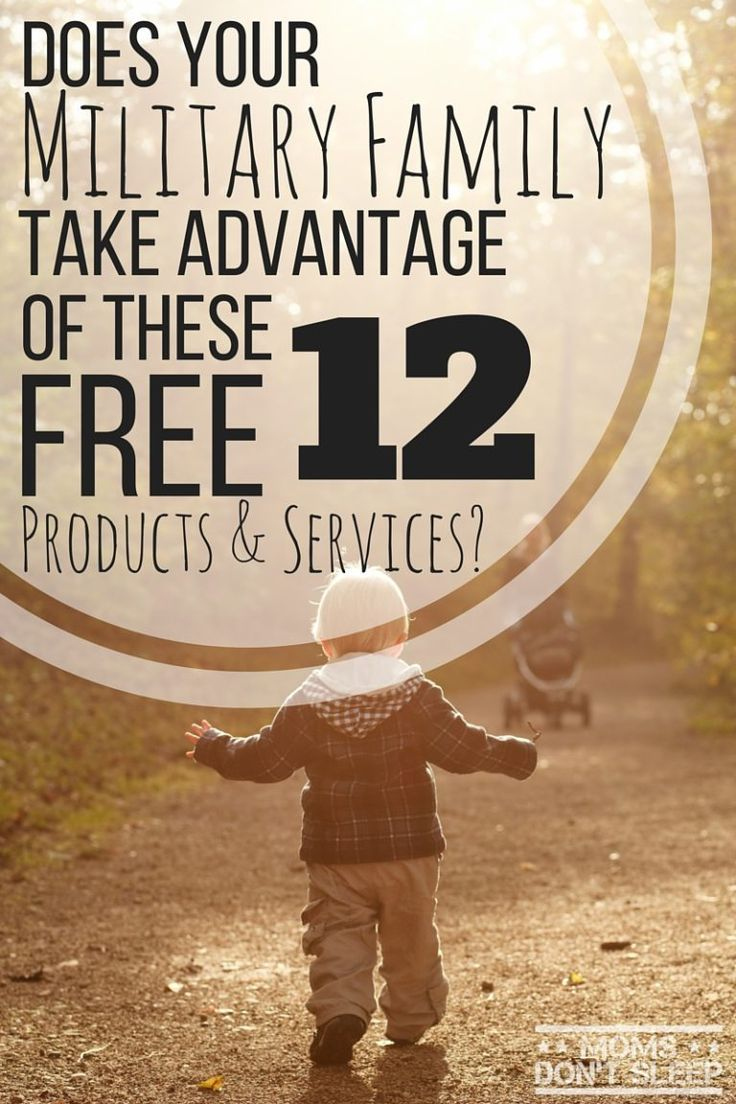 WOW this is amazing!!! I can't believe these companies offer 100% FREE products and services for military members and their families! Pinned!!