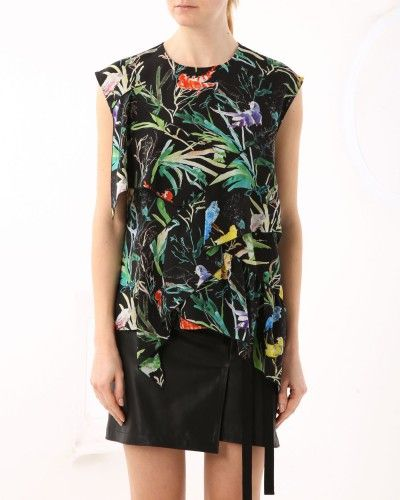 Floral print top with flounce #N21 #print #tropical #fashion #style #stylish #love #socialenvy #me #cute #photooftheday #beauty #beautiful #instagood #instafashion #pretty #girl