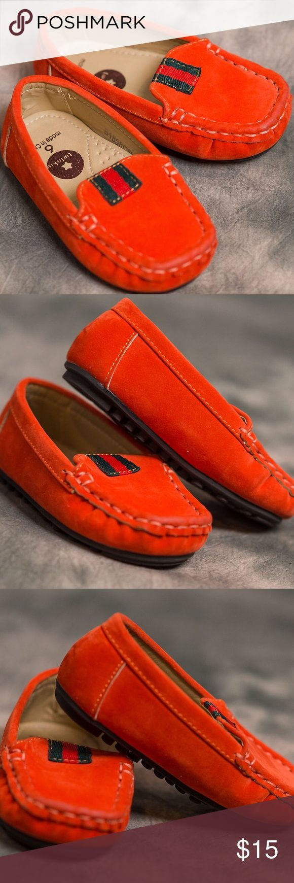 Twinkie toddler boys loafers Twinkie orange slipping loafer suede.  These are absolutely adorable and so comfy. Worn once.  Amazing condition Twinkie Shoes Dress Shoes