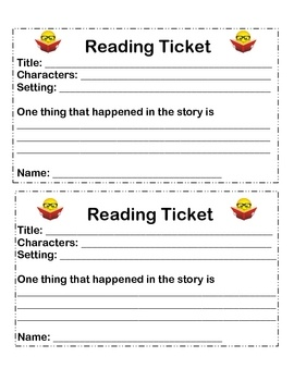 Quick comprehension assessment. Great for read to self....