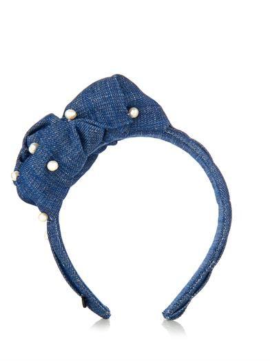 Masterpeace Sea knot and pearls denim headband