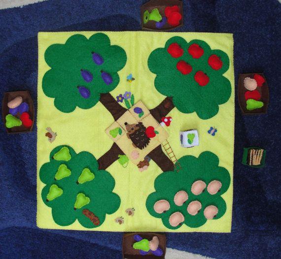 Felt Fruit Harvest Game Toy Child's Play Fruity Game by NitaFelt