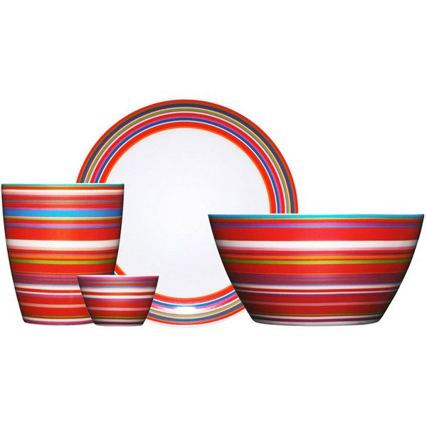 Iittala - Origo (red stripes) ($23) via Polyvore
