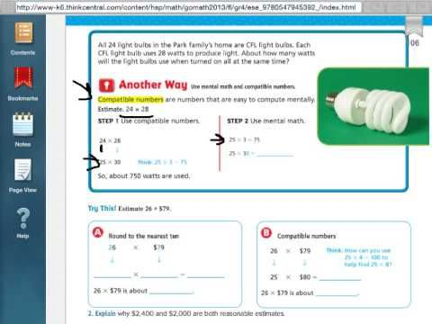 Go Math 3.2 Estimate Products | Go Math | Go math, Math, Map