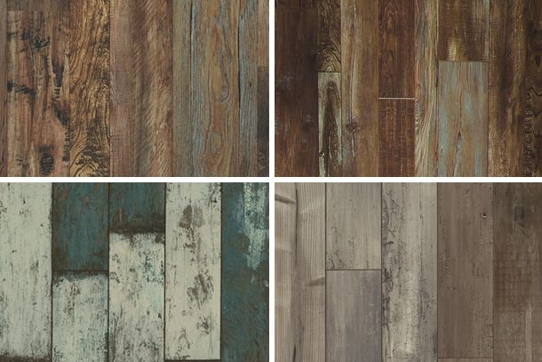 Laminate On the Wall - loving the bottom left for master bath
