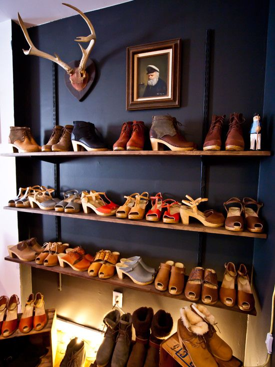 Don't hide your shoes inside a closet; showcase them on bookshelves you can enjoy them all day http://www.motelandia.co/wall-mount-shoe-storage-designs-for-your-small-spaces-rooms/looks-great-for-wall-mount-shoe-storage-ideas-with-deer-head-decor-storages-best-design-of-wall-mount-shoe-storage-ideas-at-your-entry/?utm_content=buffer517f9&utm_medium=social&utm_source=pinterest.com&utm_campaign=buffer?