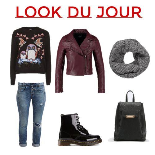 Une Tenue, Cuir Rouge, Look Du Jour, Vernis, Sac, Bottes, Red Leather, Bag