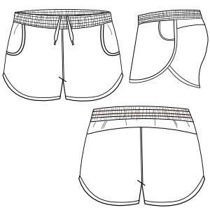 Resultado de imagem para desenho planificado shorts saia