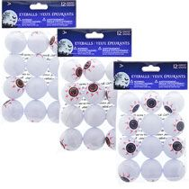 plastic ping pong eyeballs 12 ct packs halloween decorationshalloween