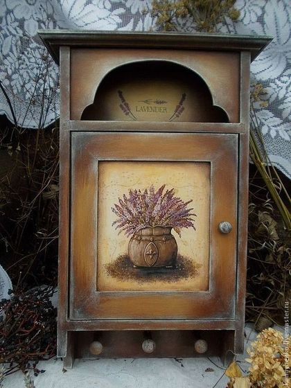 "Прихожая ручной работы. Ярмарка Мастеров - ручная работа Ключница "" Lavender "". Handmade."
