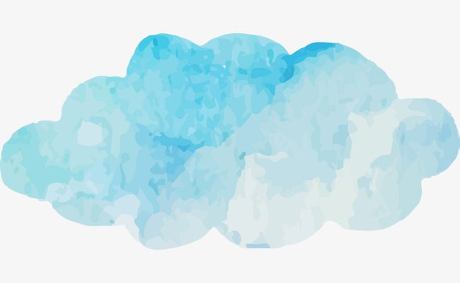 Watercolor Blue Clouds Vector Cloud Blue Watercolor Png And