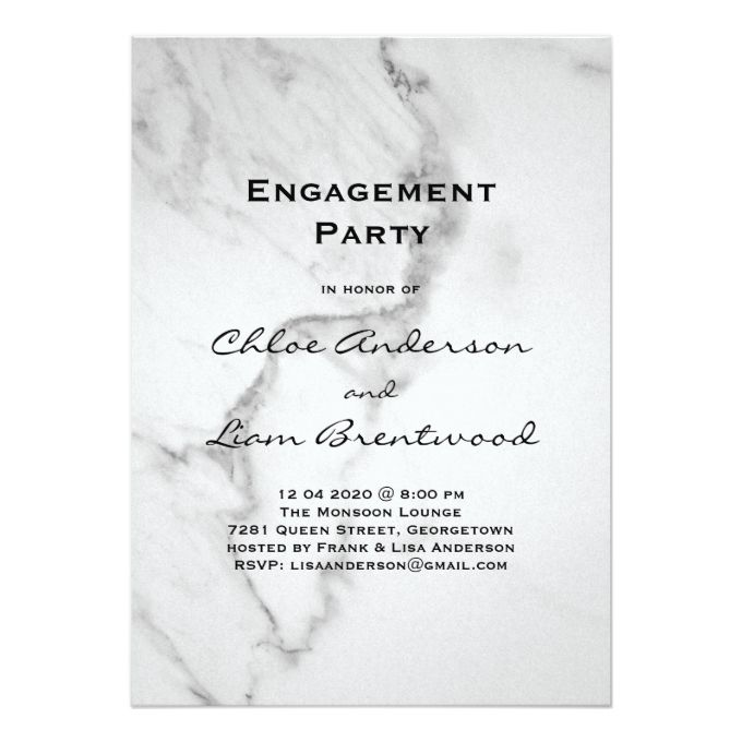 The 1000 best engagement party invitations images on pinterest elegant marble engagement party invitation stopboris Images