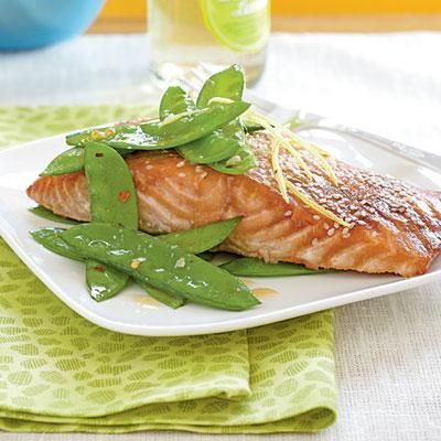 5-ingredient Salmon with Hoisin Glaze—ready in just 15 minutes!   CookingLight.com