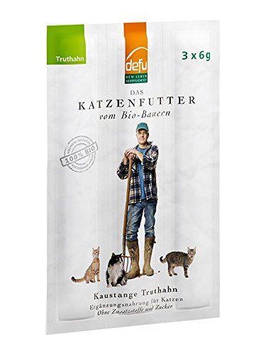 Aus der Kategorie Kausticks  gibt es, zum Preis von EUR 1,49  <b>Produktinformationen</b><br><br> Unsere Bio-Kaustangen sind leckere Belohnungs-Snacks, die Sie Ihrer Katze gerne zwischendurch geben können. Truthahn, Leinsamen, Rosmarin und Sanddorn stammen aus biologischer Erzeugung. Ein bisschen Gelatine und Meersalz sind noch drin - mehr nicht. Auf Zucker, Konservierungsmittel und künstliche Farb- oder Geschmacksstoffe haben wir vollständig verzichtet.<br><br> Probieren Sie auch unsere…