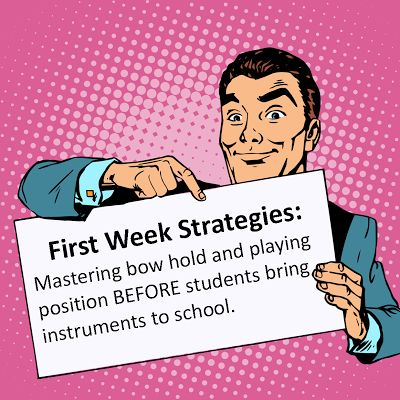 Start strong: Tip for the String Orchestra Classroom!
