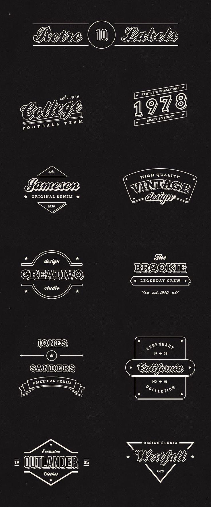 10 Free Vintage Retro Labels (PSD)