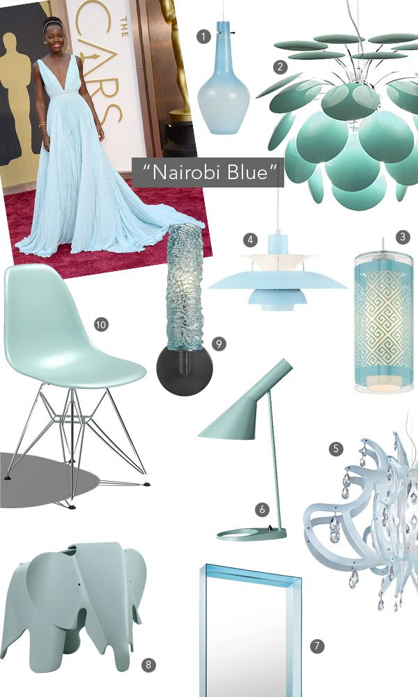 Love this color. Inspired by Nairobi Blue: Prada Gowns, Lumen Com Blog, Nairobi Blue, Lupita Nyong Or ', Colors Stories, Colors Crushes, Best Dresses Lists, Nyong O' Prada, Oscars Air