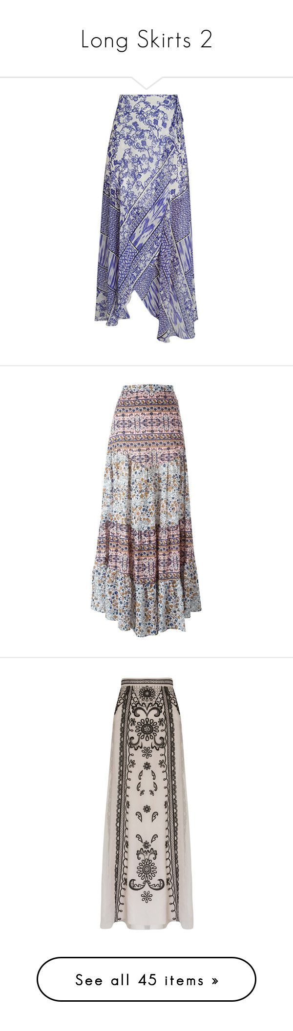 """""""Long Skirts 2"""" by thesassystewart on Polyvore featuring skirts, wrap skirt, blue knee length skirt, blue wrap skirt, blue skirt, long grey skirt, cotton maxi skirt, high waisted maxi skirt, long maxi skirts and long pleated maxi skirt"""