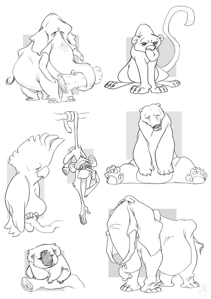 Depressed Zoo by ~XAV-Drawordie on deviantART
