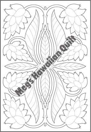 "Shell Ginger 80c55cm (32""x22"") - Meg's Hawaiian Quilt                                                                                                                                                                                 More"