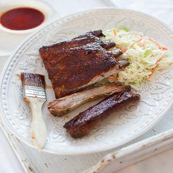 Bourbon-Maple Glazed Pork Ribs