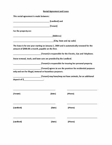 Microsoft Word Lease Agreement Template Printable Standard Lease