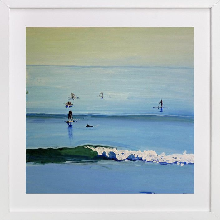 PaddleBoarders, Malibu 2011 by Annie Seaton at minted.com