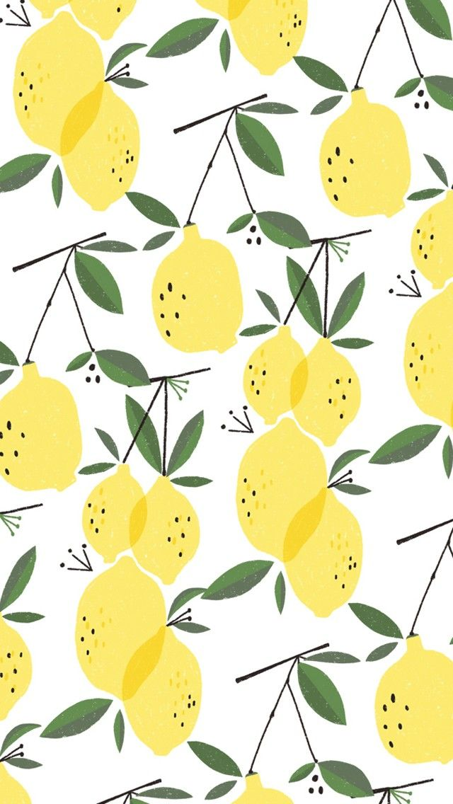 Lemons pattern. Tap to see more iPhone Wallpapers for Summer To Brighten Up Your…