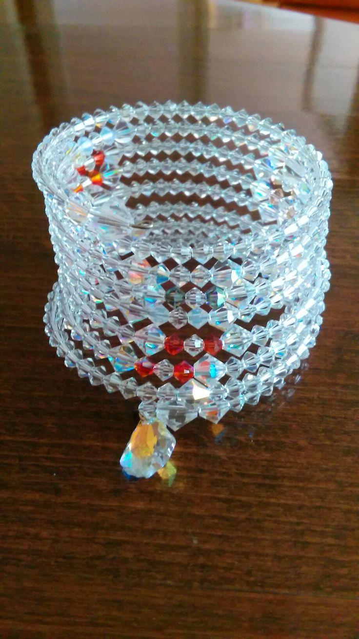 Memory wire bracelet Swarovsky crystal
