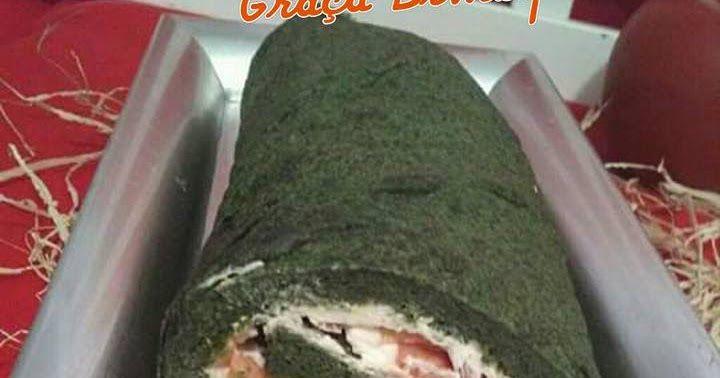 Rolo de espinafres com queijo e salmão fumado-Paleo Este rolo ou torta é uma surpreendente entrada ou mesmo uma refeição de verão aco...
