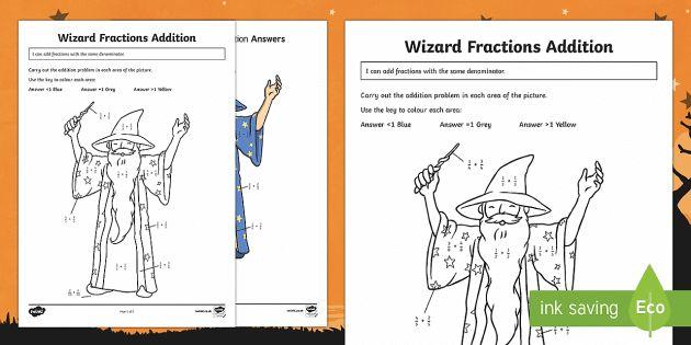 Wizard Frazione Addizione Attività Foglio