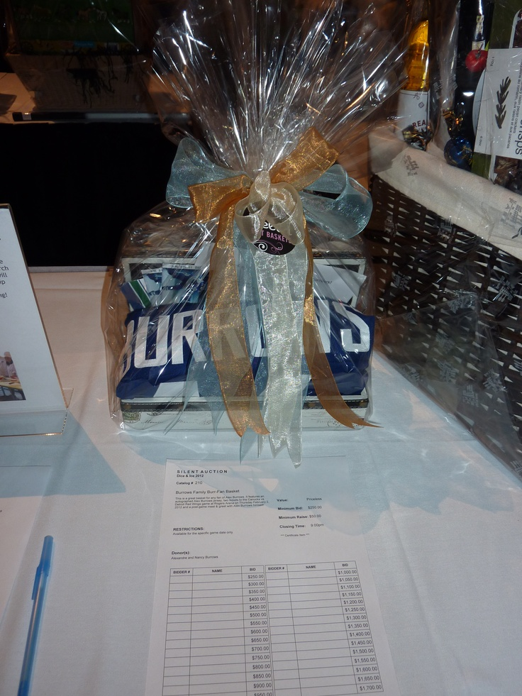 Vancouver Canucks Dice & Ice 2012 - Burrows Family Gift Basket