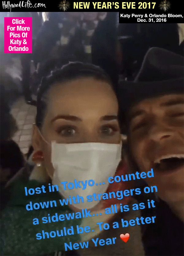 Katy Perry & Orlando Bloom's Romantic NYE In Japan: Watch Them Countdown